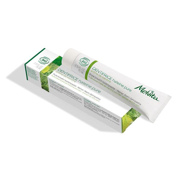 Bio-Zahnpasta für frischen Atem