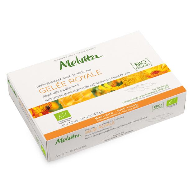 Nahrungsergänzungsmittel aus Bio-Gelee-Royale - Ampullen