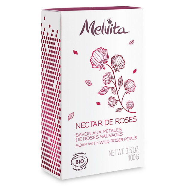 Nectar de Roses Organic Soap with Wild Roses Petals