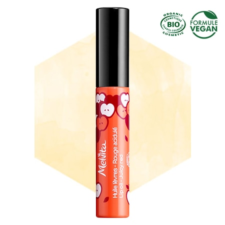 Rouge Melvita biting lips oil