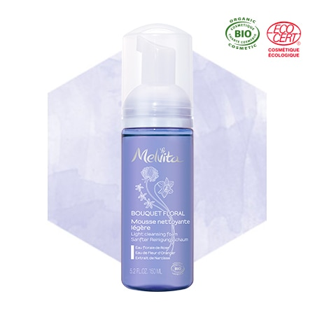 Mousse struccante detergente viso bio