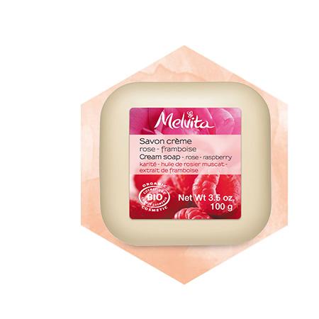 Rose-Raspberry Cream Soap Bar