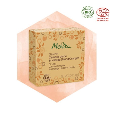 White Camellia & Orange Blossom Honey Soap