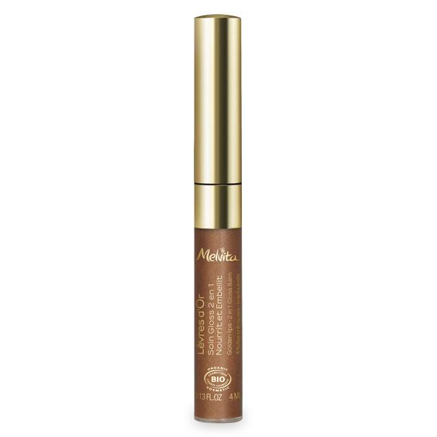 Gloss 2-en-1 Lèvres en Or