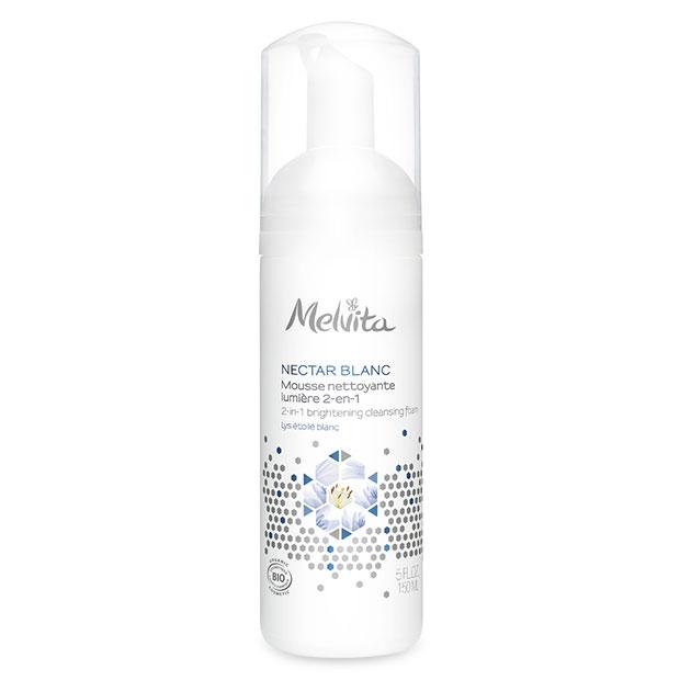 Nectar blanc Mousse nettoyante 2 en 1..