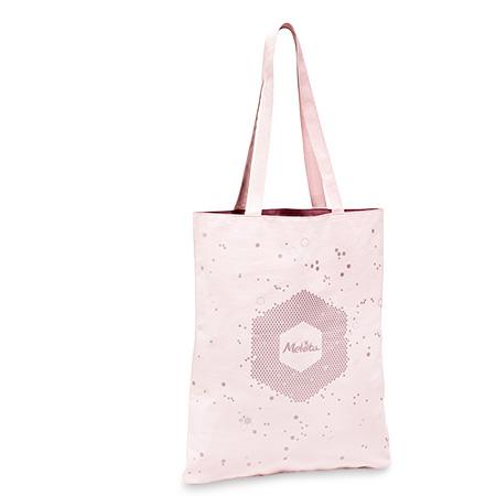 Sac coton motif hexagonal rose