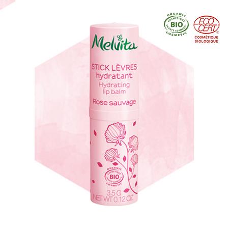 Stick lèvres à la rose bio