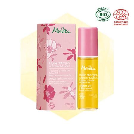 Roll-on huile d'argan et rosier muscat bio - visage et corps