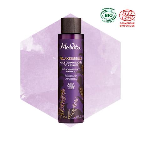 Relaxing milky bath oil