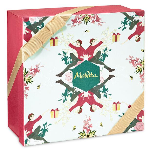Darilna škatla zeleno-rdeča