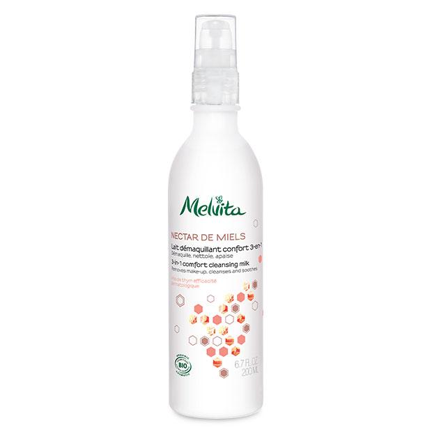 Pomirjajoče čistilno mleko 3 v 1 za obraz_suha koža