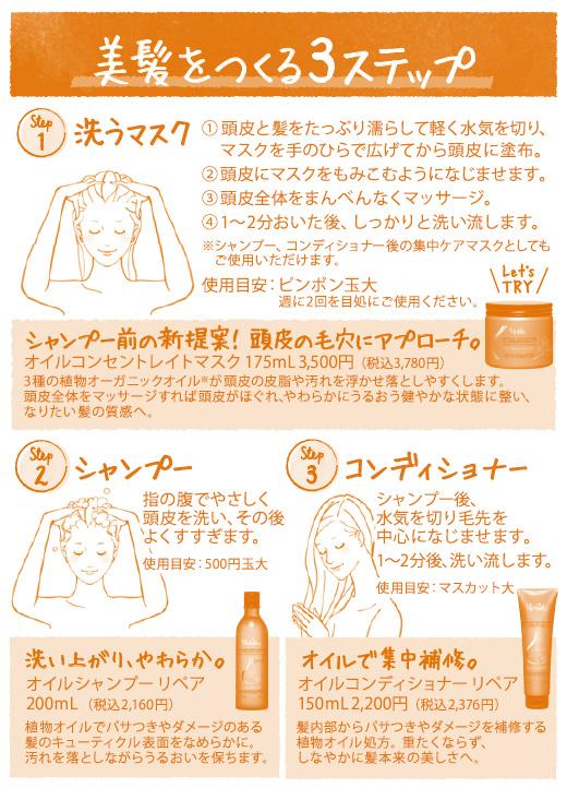 ヘアケア使用方法