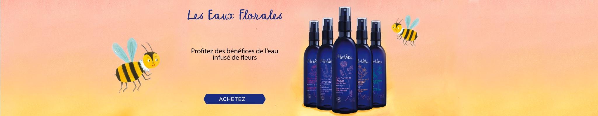 eau florale, rose, bleuet, lavande, oranger, hamamélis