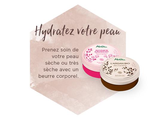 Hydratez votre peau, prenez soin de votre peau sèche ou très sèche avec un beurre corporel
