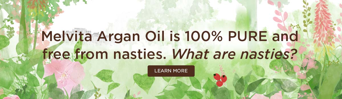 Melvita Argan Oil is 100% pure and free from nasties. What are nasties?
