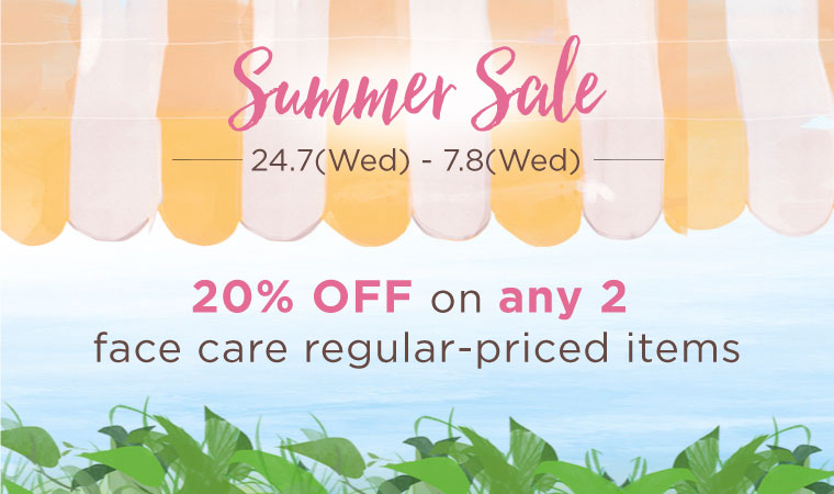 Summer Sale is back! Get 20% OFF on your favourite organic essential.