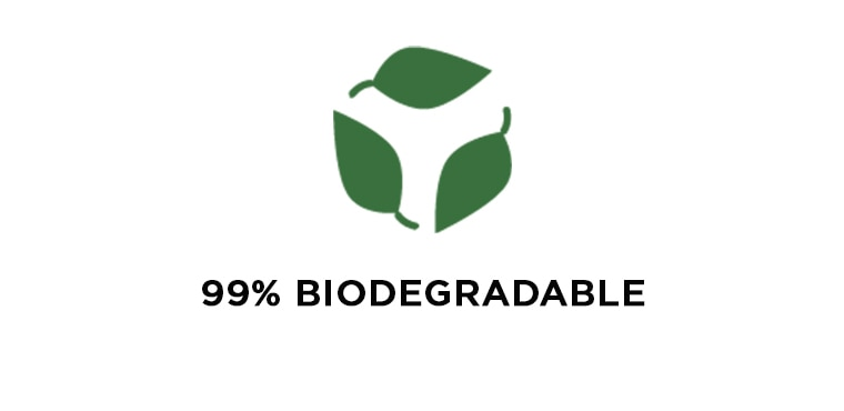 99% Biodegradable