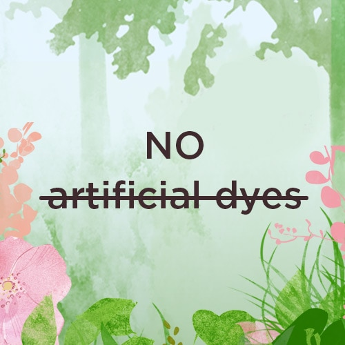 Artificial dyes can cause skin irritation and exacerbate skin conditions