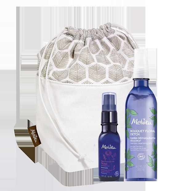 raziskovalni komplet za čiščenje obraza Boquet Floral Detox