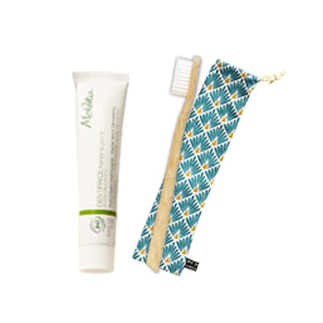 Duo brosse à dent en bambou et dentifrice