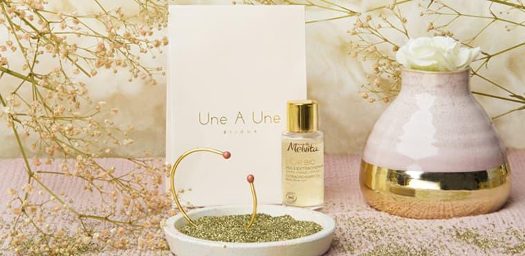 jonc Une à Une et mini huile extraordinaire L'Or Bio