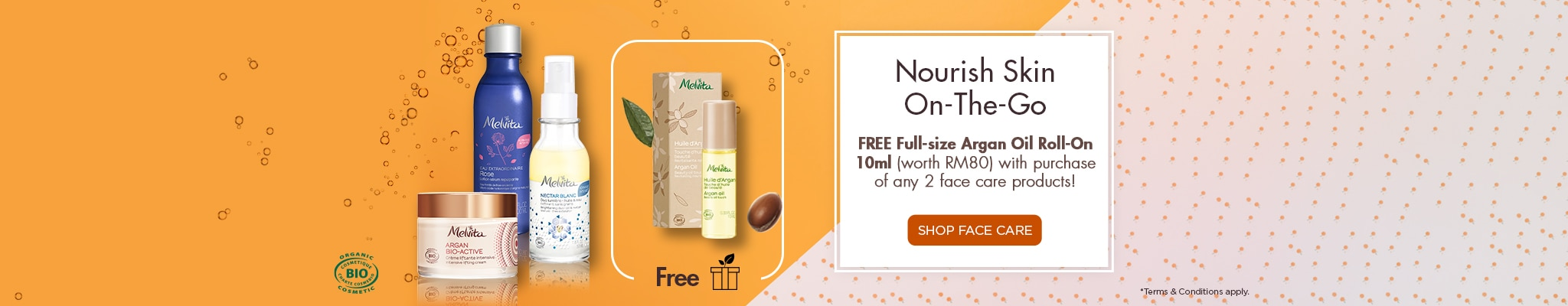 Buy 2 face care free Argan Oil Roll-On