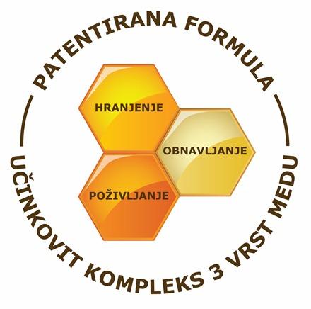 Učinkovit kompleks 3 vrst medu