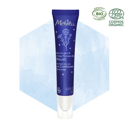 Ice-fresh roll-on with cornflower floral water