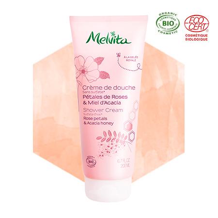Gel doccia rosa e miele di acacia bio