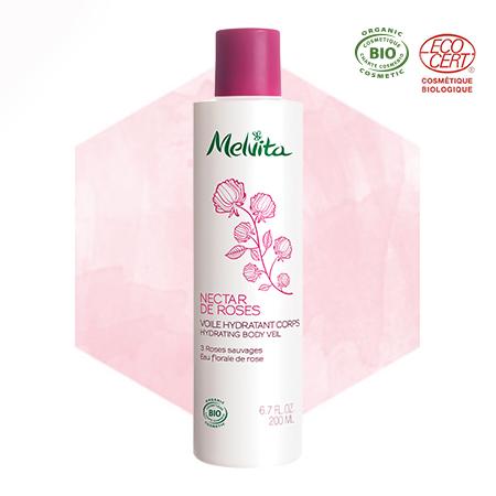 Latte corpo bio alla rosa