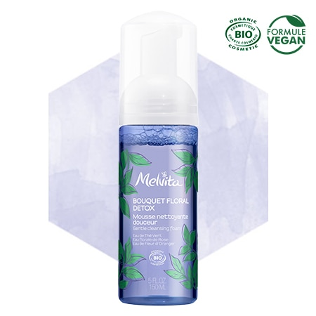 Melvita organic detox cleansing foam