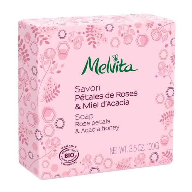 Seife - Rosenblütenblätter & Akazienhonig