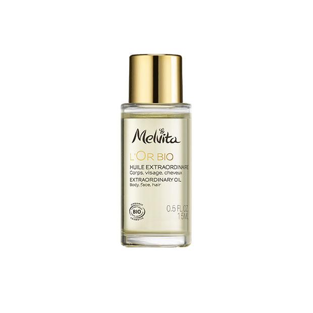 izjemno zlato olje L'Or Bio za obraz, telo in lase