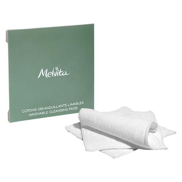set od tri perive pamučne blazinice za čišćenje lica