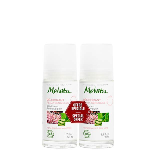 naravni deodorant za občutljivo kožo Melvita XXL pakiranje