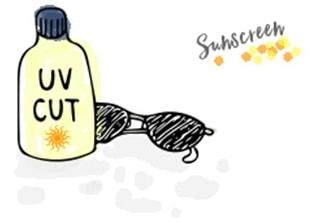 日焼け止め_イラスト